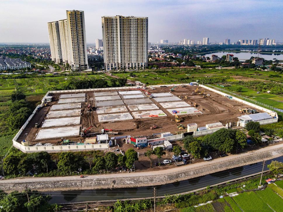 Thần tốc: Xây dựng bệnh viện dã chiến Hoàng Mai, Hà Nội